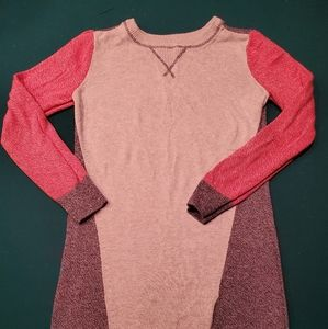 Color block girls sweater dress